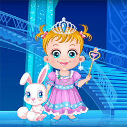 Baby Hazel As Ice Princess Dressup